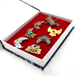 Wholesale Anime Pin Sets - Retail anime game League of Legends brooches pins 7 pcs set classic gift for Collection