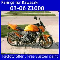 kawasaki sitzbezüge großhandel-Verkleidungen + Sitzbezug für Kawasaki Z1000 2003-2006 Z1000 2004 2005 OEM Orange Fairing Kit SL93