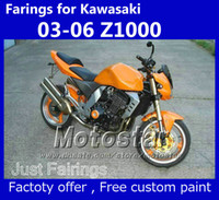 corredo della carenatura per Kawasaki Z1000 2003 2004 2005 2006 Z 1000 03 04 05 06 OEM fairiings arancio kit KS15
