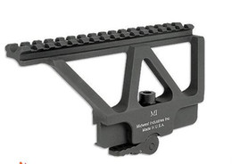 Wholesale Picatinny Rails - Free shipping Quick Detach AK Railed Scope Mount Picatinny Side Rail Mounting system Matte for AK-47, AK-74