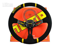Wholesale Drift Steering - Wholesale - New Arrival: 350mm MOMO Deep Corn Drifting Steering Wheel   Suede Leather