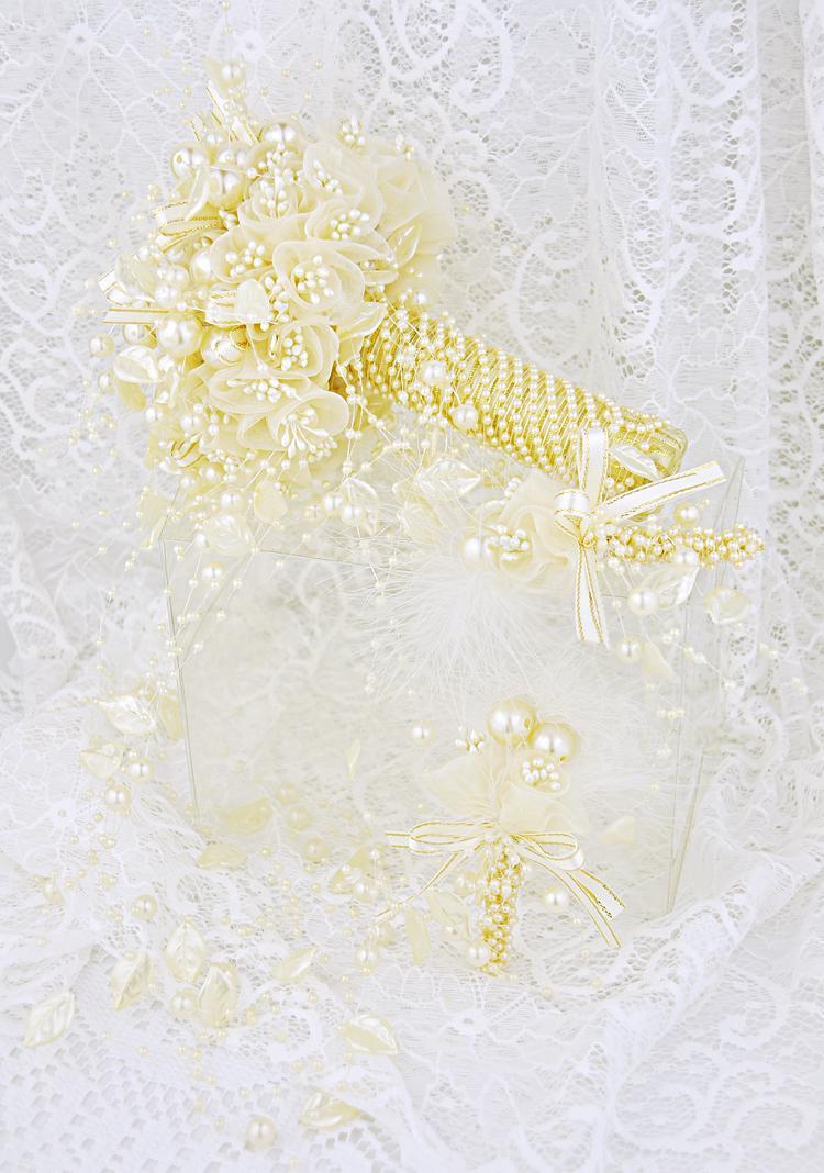 30 mt 12mm4mm Rose Blume Perle Perle Girlande Haar Stying Hochzeit Dekoration Handwerk DIY