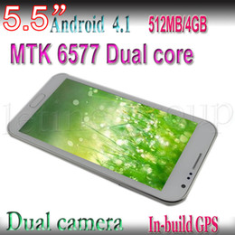 Wholesale Dual Sim Android Mtk6577 - Cheap 5.5inch MTK6577 N7100 Dual Core 1.2GHZ CPU Android 4.1 with 8.0M Camera Cell phone Smartphone