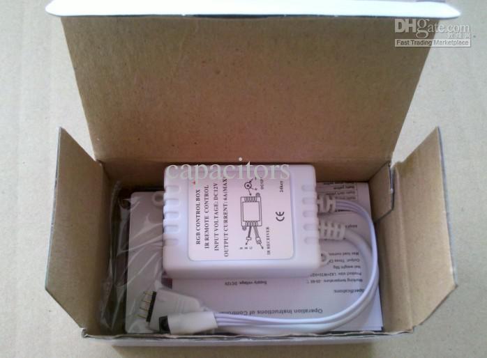 RGB 24 llave Control IR remoto para 5050.3528 tira llevada impermeable, envío libre