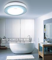 techo suspendido luces led al por mayor-La pantalla de 7w 210mm azul naranja púrpura llevó la luz de techo suspendida alrededor de la lámpara de pasillo 85-265v para cocina, baño, galería