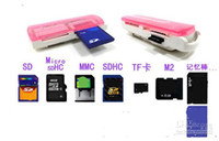 Wholesale Small Spacecraft Micro Sd - 2015 NEW Small spacecraft Micro SD TF M2 camera, SD Memory Stick M2 MINI SD Card Reader Multi Cards In 1