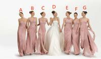 Wholesale Babyonline Dresses Black - 2016 bridesmaid dress Mix Order New Sexy Strapless Pink Chiffon Babyonline Bridesmaid Dresses