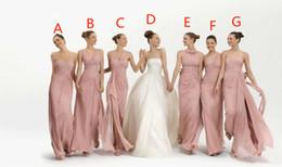 Wholesale Dresses Babyonline - 2016 bridesmaid dress Mix Order New Sexy Strapless Pink Chiffon Babyonline Bridesmaid Dresses