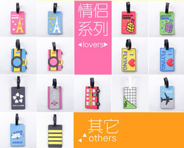 Wholesale Suitcase Card - Hot sale lovely cartoon luggage tags pvc travel baggage tag PERSONALIZED Identification card suitcase label Bag jewelry Pendants accessories