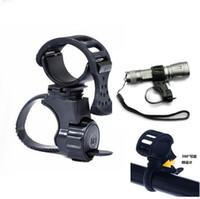 Wholesale Mount Clip Bicycle Light - 1PC 360 Rotate Cycling Flashlight Mount Bicycle Light Holder Clamp Torch Clip free shiping