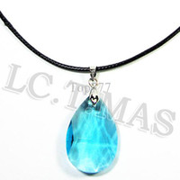 Wholesale Sword Art Online Yui - New Cosplay Sword Art Online SAO Kirito & Asuna's Child Yui Blue Crystal Gem Stone Pendant Necklace