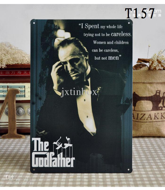 The Godfather Tin Sign Bar Pub Cafe Home Wall Decor Shabby Chic Retro Metal  Poster 30cm*20cm T157 Living Room Decoration Living Room Decorations From  ...