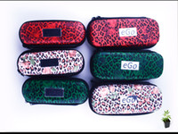 Wholesale Leopard Print Electronic Cigarettes - eGo Cases Ego Bags Leopard Print Case for Ego Electronic Cigarettes S L Sizes Three Colors Fashion Design Travelling Cases or Bags Instock