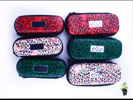 Wholesale Bags Cigarettes Fashion - eGo Cases Ego Bags Leopard Print Case for Ego Electronic Cigarettes S L Sizes Three Colors Fashion Design Travelling Cases or Bags Instock