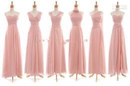 Wholesale Evening Bridemaid - Real Image Hot Bridemaid Dresses Mix Order Sexy Ruffle Floor-Length Chiffon Evening Dresses