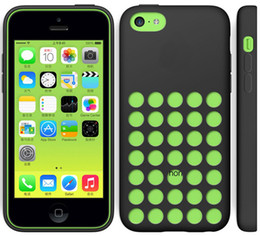 Wholesale Iphone Silicon Rubber - New Arrival iphone 5C case dot dots back cover protector cases clear Silicon crystal specially designed soft rubber TPU colorful