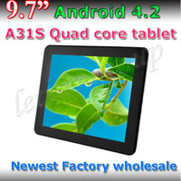 Bluetooth !!! 9.7 Zoll-A31S Quad-Core HD Tablet PC 1GB / 8GB 7800mAh External 3G Android 4.2 Dual-Kamera-1024 * 768 kapazitive Screen-Tablet-PC