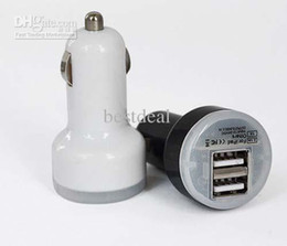 Wholesale I Note Phone Charger - Wholesale - New 2 Port Dual USB Car Charger Adapter for iPhone 5 4 4s i ipad Samsung Galaxy S3 S4 Note 2 Mobile Phone Accessories