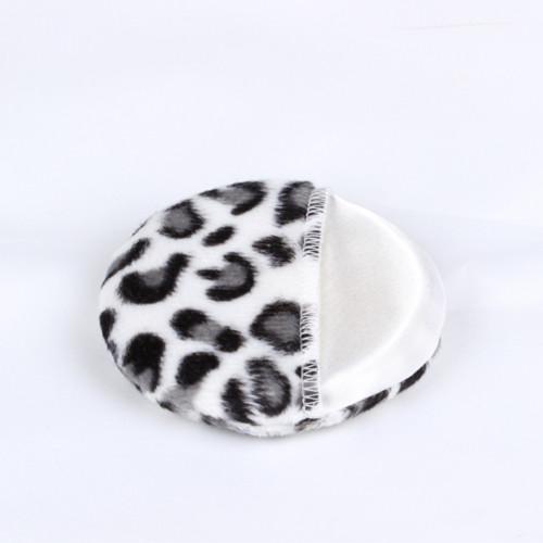 Kosmetik Puff Makeup Tools 30 stücke Gesicht und Körper Puderquaste Schwarz Braun leopard Puderquasten 80mm