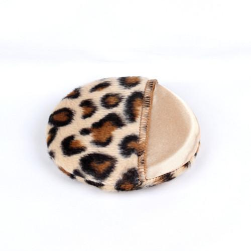 Cosmetic Puff Makeup Tools Face and Body Powder Puff Black Brown leopard Powder Puffs 80mm