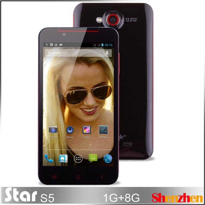 Star S5 MTK6589T Quad Core android smartphone with 5.0 inch IPS Screen 1.5GHz 1GB RAM 8GB ROM