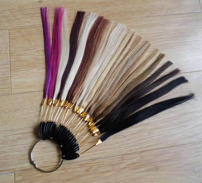Set Human Hair Color Ring Color Chart Color Wheel For Hair