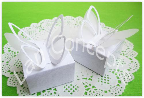 Embalaje plegable del favor del partido de la caja del caramelo de la boda de la cartulina de DIY - top / LWB0352 de la mariposa envío libre