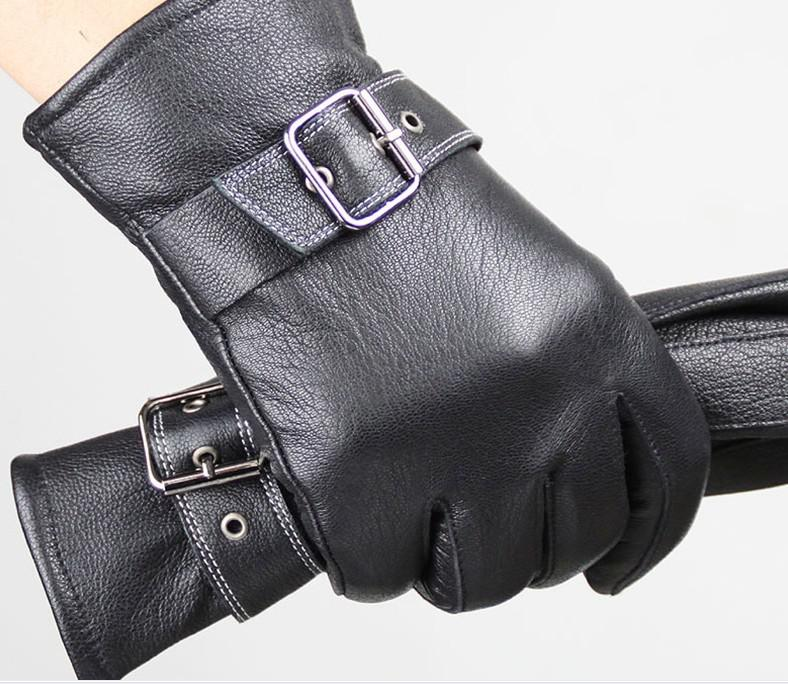 THICK WARM Mens genuine Leather gloves leather Lambskin GLOVE high quality 12pair/lot #3153
