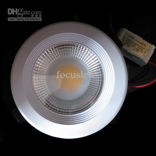 Buena calidad COB 20W 1 * 20 vatios Downlights LED de 6.5 pulgadas Lámparas empotradas con fuente de alimentación / accesorio del techo Luces del gabinete de techo + CE ROHS SAA UL