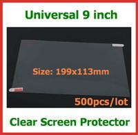 cep telefonu ekran boyutları toptan satış-500 adet Evrensel LCD Ekran Koruyucu Güvenlik Filmi 9 inç Tam Ekran Boyutu Tablet PC için 199x113mm GPS Cep Telefonu Hiçbir Perakende Ambalaj