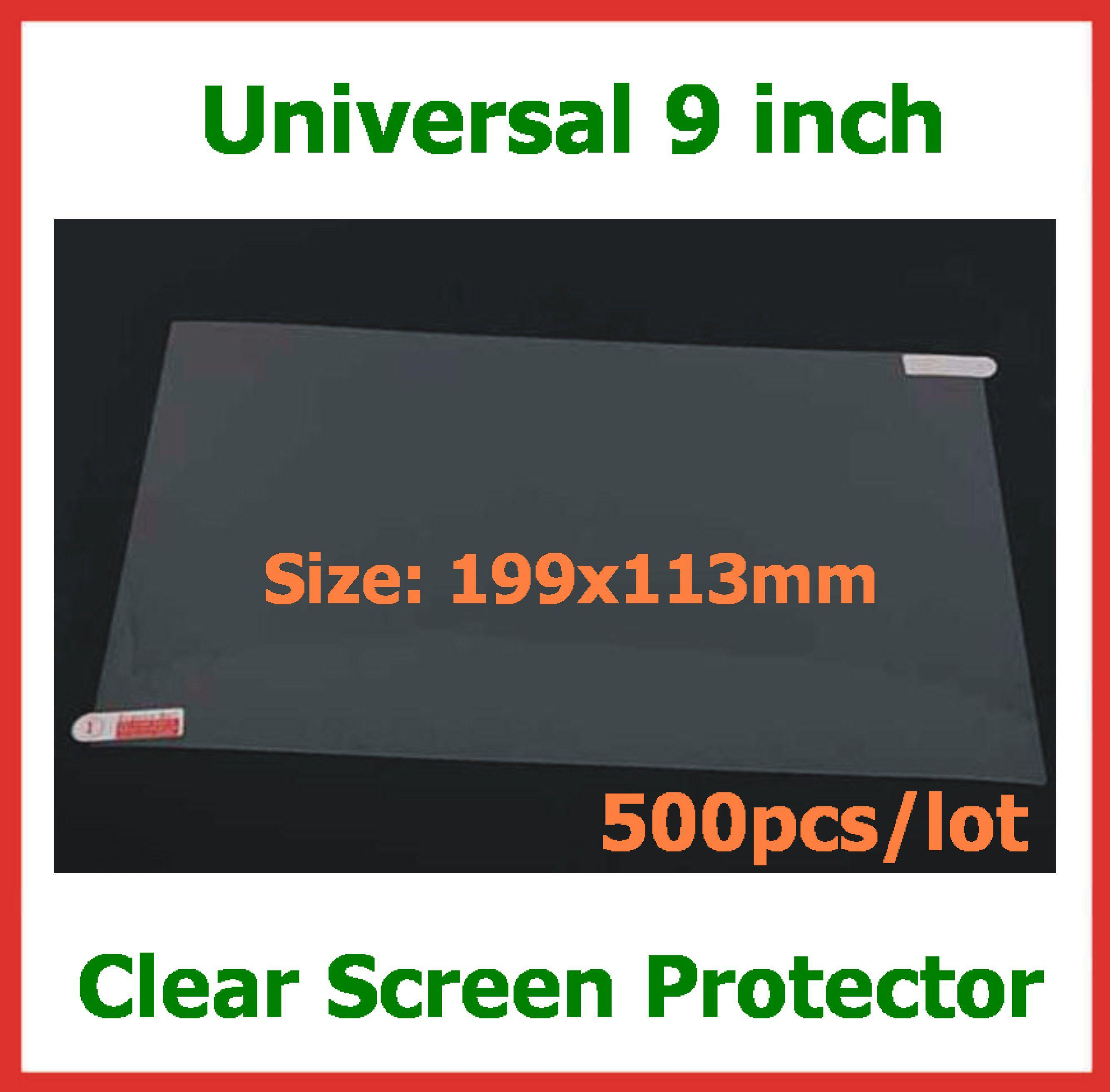 500pcs Universal LCD Screen Protector Guard Film 9 inch NOT Full-Screen Size 199x113mm for Tablet PC GPS Mobile Phone No Retail Packaging