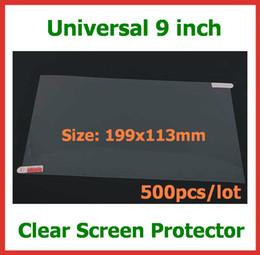 Filme completo móvel on-line-500 pcs universal protetor de tela lcd guarda film 9 polegada não full-screen tamanho 199x113mm para tablet pc gps telefone móvel sem embalagem de varejo