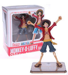 China Free Shipping Japanese Anime Cartoon One Piece New World Luffy Action Figures PVC Tos Doll Model Collection superman supplier superman model suppliers