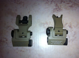 Wholesale Troy Battle Rear - Metal TROY Industries Folding Battle Sight Front and Rear Sights COMBO Back-up Sight DE