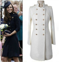 Wholesale Princess Kate Coats - New arrival autumn and winter in Europe and America Princess Kate same style retro coat wool coat
