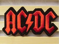serin demir yamalar toptan satış-Toptan ~ Yüksek Kaliteli Punk Yama Rock Grubu AC / DC (9.5x5 cm) İşlemeli Aplike Serin Demir On Patch