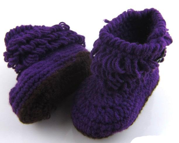 2016 new knit boots crochet baby booties 0-12 M toddler shoes winter snow boots