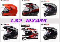 Wholesale Ls2 Mx455 - ECE authentication LS2 OFF Road Helmet motorcross helmet Motorcycle helmet Moto Racing helmet Ls2 MX455 Motorbike helmet made of Fiberglass