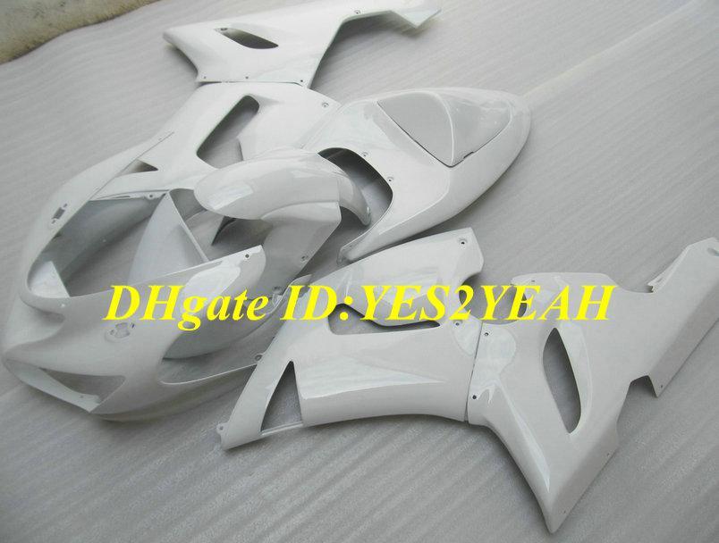 Kit de cuerpo de carenado para KAWASAKI Ninja ZX6R 05 06 ZX 6R 2005 2006 Carrocería ZX-6R 636 kit de cuerpo de Faiirngs blanco + regalos Sw24