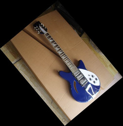 Wholesale Model Guitar - Wholesale - best china guitars Deluxe Model 360 12 STRING Electric guitar Semi Hollow blue burst 090907