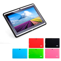 Wholesale Tablet Inch Back Skin - Multi-color Soft Silicone Protective Back Cover Case for 7 Inch Android Tablet PC Free Shipping