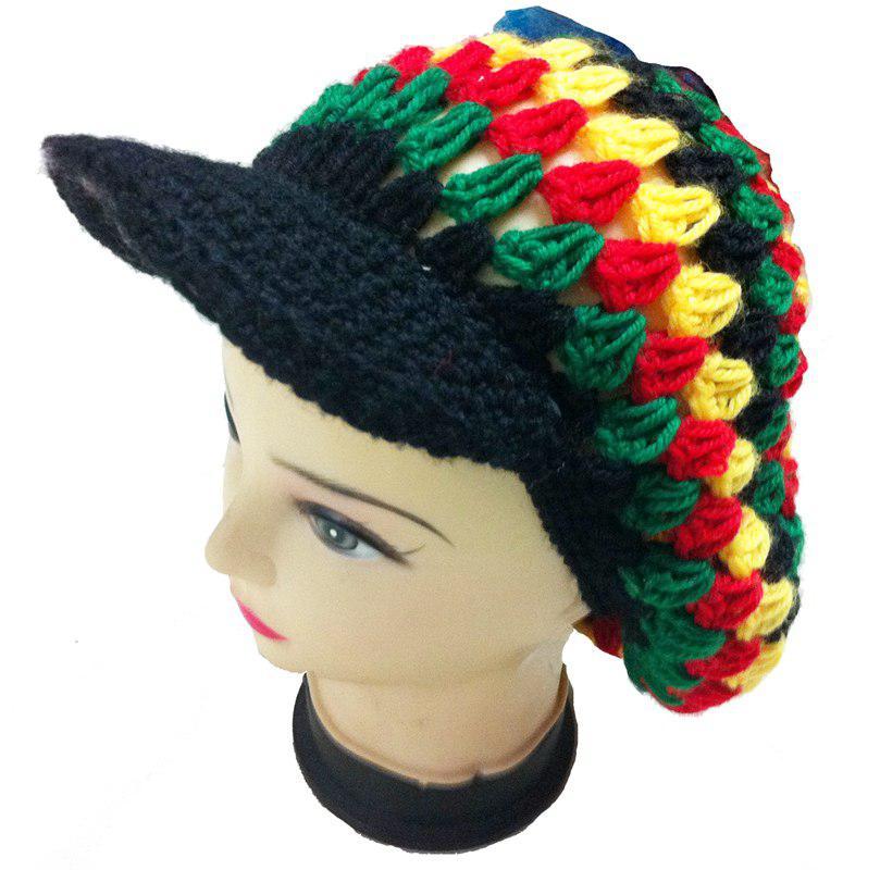 Jamaican Reggae Rasta Hat Handmade Knitting Crochet Hats
