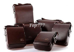 Wholesale Soft Kangaroo - 2017 New Fashion Kangaroo Mens Leather Crossbody Shoulder Messenger Bag mens handbag Briefcase 2 Colors 2 Versions Free Shipping Handbag