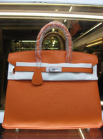 Wholesale Designer Bags Orange - Designer women handbags All Cow Leather Bags Durable Top End Quality 35cm width Good Package factory prices Free shipping