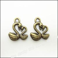 Wholesale Bronze Goose - Vintage Charms Goose 15x12mm Pendant Antique bronze Fit Bracelets Necklace DIY Jewelry 270pcs lot