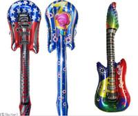 Wholesale Guitar Balloons Sticks Wholesale - Hot sales! 80cm 100pcs lot+20pcs FREE wholesales Guitar Cheering stick toys cartoon ballon stick Party balloon