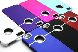 Wholesale Deluxe Ring Case - Deluxe Chrome Hard Case Back Cover Casing with Metal Ring Round Hole for Apple iphone 4 4G 4S 5 5G 5S