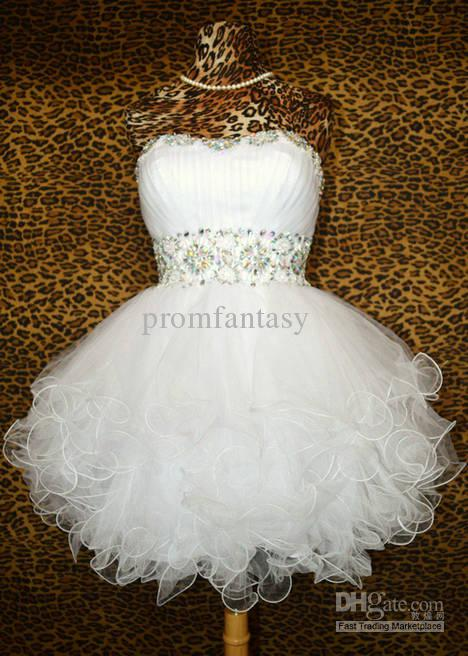 Prom cocktail dresses white