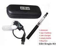 Wholesale Ego Ce4 Metal Carrying Case - eGo CE4 kit electronic cigarette kit CE4 Atomizer Clearomizer 650mah 900mah 1100mah ego battery ego kit Zipper carry case DHL Free Shipping