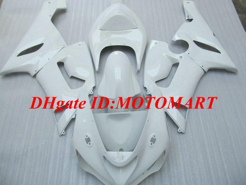 7geschenke !!! Motorrad Verkleidung für KAWASAKI Ninja ZX6R 05 06 ZX-6R 636 ZX 6R 2005 2006 Komplette weiße Verkleidung SET KY32